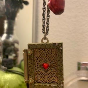Once Upon A Time Spell Book Necklace